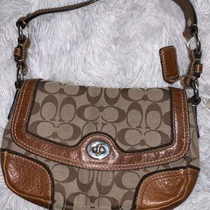 brown over the shoulder small coach original